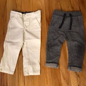 2 pairs of boys sz 9-12mo pants